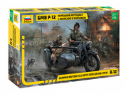 3607 Zvezda 1/35 BMW Motorcycle R-12 with sidecar and crew