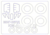 72056-1 KV Models 1/72 Маска для МиГ-25ПД + маски на диски и колеса