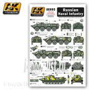 AK-803 AK Interactive Декаль для техники российской морской пехоты
