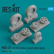 RS72-0122 RESKIT 1/72 MiG-21 (PF/PFS/PFM/FL/M/MF/MFN/SM/R) смоляные колеса