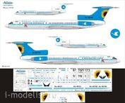 Т5М-040 Ascensio 1/144 Декаль для тушка-154М (Авиационные линии Кубани(ALK))