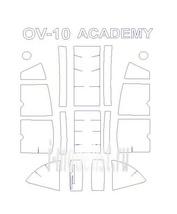 72129 KV Models 1/72 Набор окрасочных масок для остекления модели OV-10 Bronco