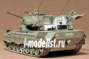 35099 Tamiya 1/35 Западногерманский танк 1960г. Со сдвоенной зенитной 35мм пушкой. В комплекте одна фигура танкиста.