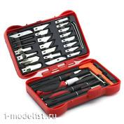 4009 JAS Набор ножей с цанговым зажимом (алюминий), 33 предмета