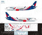 738-034 Ascensio 1/144 Декаль на самолет боенг 737-800 (Azur Air)