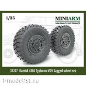 35207 Miniarm 1/35 К-4386 Тайфун-ВДВ, колеса Мишлен под нагрузкой, 4 шт.