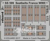SS599 Eduard 1/72 Цветное фототравление для Стальные ремни Франция WWII