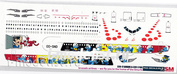 320-17 PasDecals 1/144 Decal for A320 Brussels Airlines SMURFS