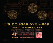 SPS-024 Meng 1/35 resin sagged wheel for U.S. Cougar 6*6 MRAP (набор колёс для Cougar 6*6 MRAP, смола)