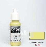 70806 Vallejo Краска акриловая `Model Color` Немецкий желтый/German Yellow