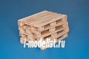 35D30 RB Model 1/35 4 x natural wood pallets
