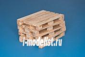 35D30 RB Model 1/35 4 x natural wood pallets