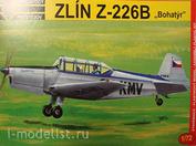 "KPM0003 Kovozavody Prostejov 1/72 Zlín Z-226B ""Bohatýr"""