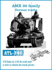 ATL-35-144 Friulmodel 1/35 Траки железные для AMX 30 family German tracks