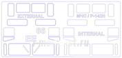 35029 KV Models 1/35 Маска для 66 / 66 МЧС / Р-142Н (Двусторонние маски)