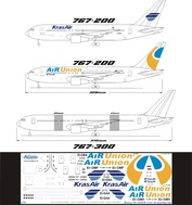 762-002 Ascensio 1/144 Декаль на самолет боенг 767-200ER (Альянс Айр Юнион 2008/Крас Айр)