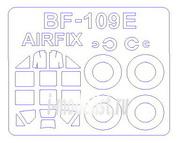72633 KV Models 1/72 Набор окрасочных масок для Bf-109 E-3 / E-4 / E-7  + маски на диски и колеса
