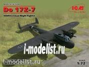 72307 ICM 1/72 German night fighter Do 17Z-7