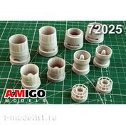 AMG72025 Amigo Models 1/72 Реактивные сопла двигателя Ал-41Ф1С для Суххой-35С