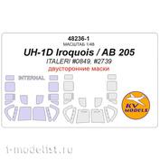 48236-1 KV Models 1/48 UH-1D Iroquois / AB 205 - двусторонние маски