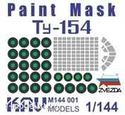 M144 001 KAV Models 1/144 Окрасочная маска на Ту-154М (Звезда)