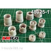 AMG48025-1 Amigo Models 1/48 Суххой-35С (G.W.H.) Реактивные сопла двигателя Ал-41Ф1С