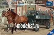 RV35043 Riich 1/35 German Hf.7 Horse drawn Steel field wagen w/2 Horses & 2 Figures