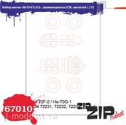 67010 ZIPmaket 1/72 Набор масок «He70-F2/G1», производитель ICM