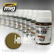 AMIG1503 Ammo Mig Filter-Ochre for light sand (OCHRE FOR LIGHT SAND)