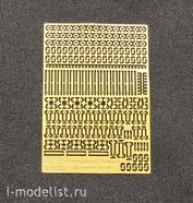 35020 Vmodelss 1/35 Фототравление Крепление шанцевого инструмента для советской бтт