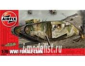 2337 Airfix 1/76 Танк первой мировой войны