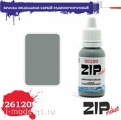 26120 ZIPMaket Краска акриловая Серый Радиопрозрачный