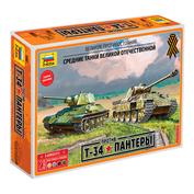 5202 Zvezda 1/72 T-34 vs Panther