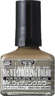 WC07 Gunze Sangyo Смывка MR.WEATHERING Color - Grayish Brown