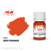 C1006 ICM Краска для творчества, 12 мл, цвет Тёмно-оранжевый (Deep Orange)