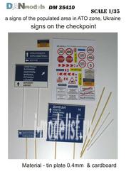 DM35410 DANmodel 1/35 Набор знаков на блок-пост и населенные пункты, зона АТО Украина