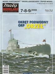 MM 7-8-9/2008  Maly Modelarz Бумажная модель ORP Orzel