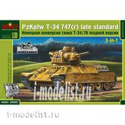 3580 Макет 1/35 Немецкая конверсия танка Т-34/76 поздней версии