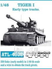ATL-48-02 Friulmodel 1/48 Траки железные для TIGER I Early type tracks.