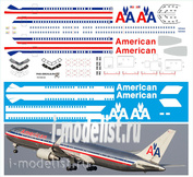 767300-02 PasDecals 1/144 Scales Decal for Boeing 767-300 American