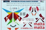 320-03 PasDecals 1/144 Decal on A320 Air Malta