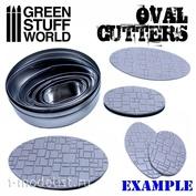 1998 Green Stuff World Овальные фрезы для создания оснований / Oval Cutters for Bases