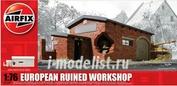 75001 Airfix 1/76 European Ruined Workshop