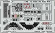 FE1063 Eduard 1/48 Набор фототравления для F4F-3 HOBBY BOSS