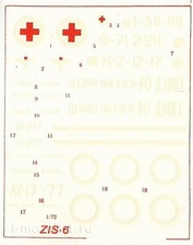 7203X 1/72 Decal for Ziss-6