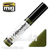 AMIG3506 Ammo Mig FIELD GREEN (Масляная краска с тонкой кистью аппликатором)