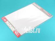 70127 Tamiya Пластик прозрачный, толщина 0,4мм, размер В4 (364х257мм) 4 листа