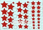 48010 KV Decol 1/48  Российские звезды, тип 3  (два листа)