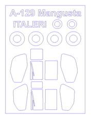 72276 KV Models 1/72 Маска для Agusta A129 Mangusta + маски на диски и колеса