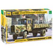 3647 Звезда 1/35 Немецкий тяжелый грузовик L 4500 c деревянной кабиной